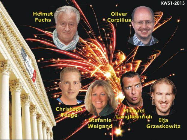 Online-Seminare KW 51-2013: Helmut Fuchs - GUT GELAUNT GEWINNT, Oliver Corzilius - Werbetexte, Langheinrich, Weigand, Teege und Grzeskowitz - XMAS Mutcamp